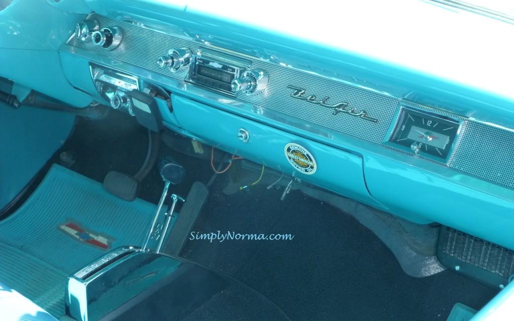 1957, Chevy BelAir, Dashboard, Blue