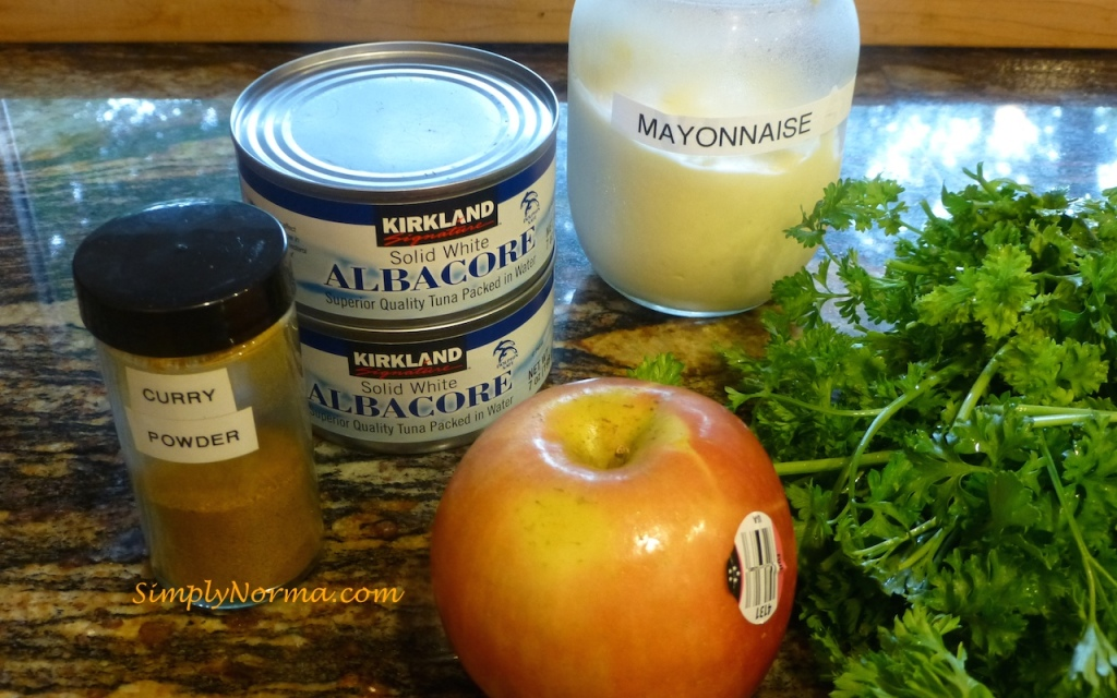 Ingredients for Apple Curry Tuna Salad