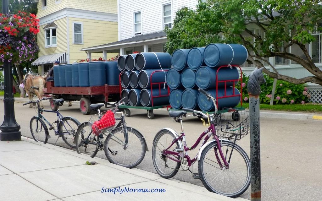 Transporting Supplies, Mackinac Island, Michigan