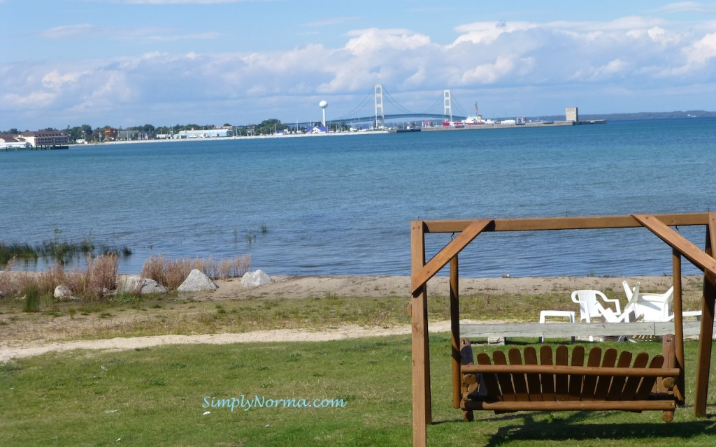 View from the Clearwater Lakeshore Motel, Mackinaw, Michigan