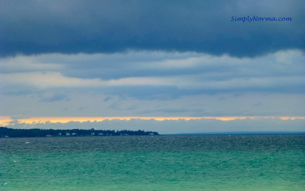 View of Lake Huron, Mackinaw City, Michigan