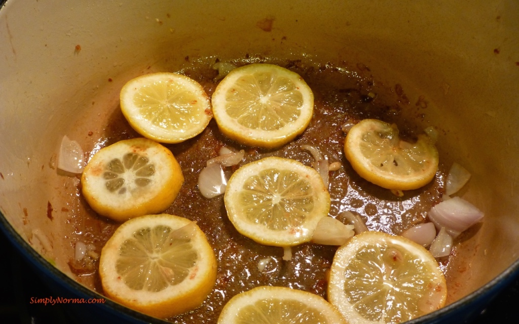 Add lemon slices