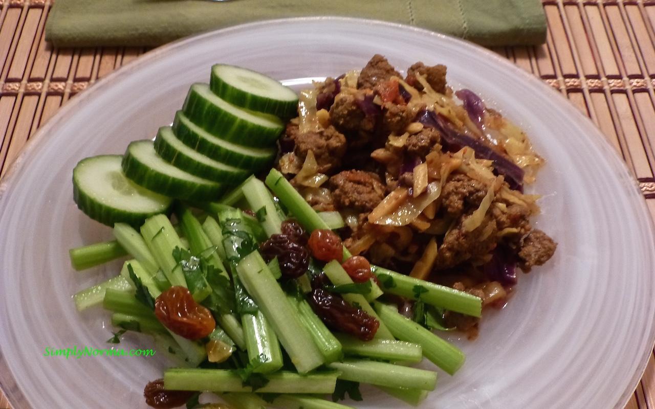 Celery and Cilantro Salad with Raisins