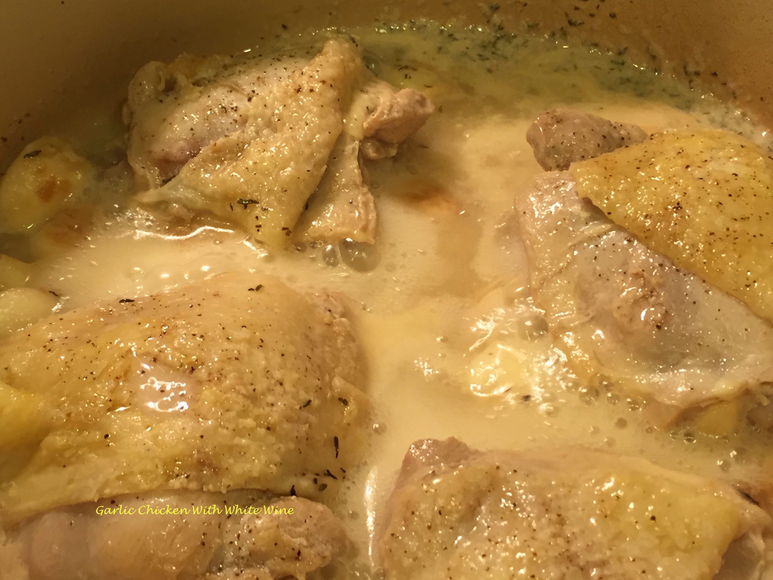 Garlic Chicken With White Wine